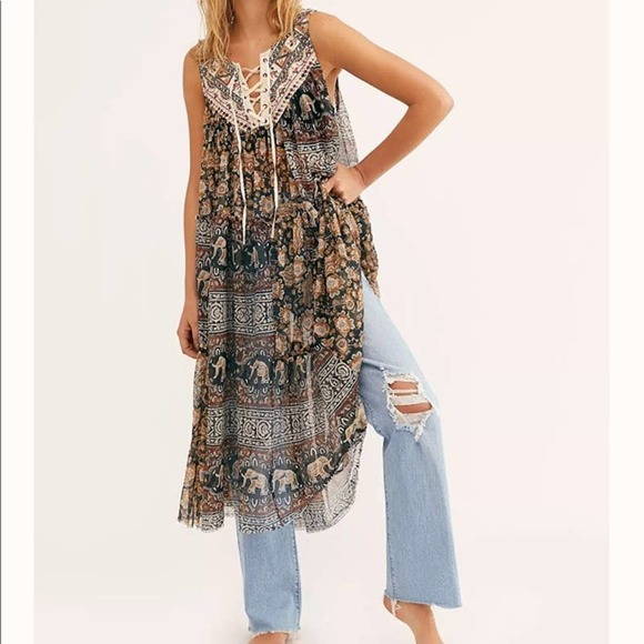 Free People The Wanderers Top Dress cover up